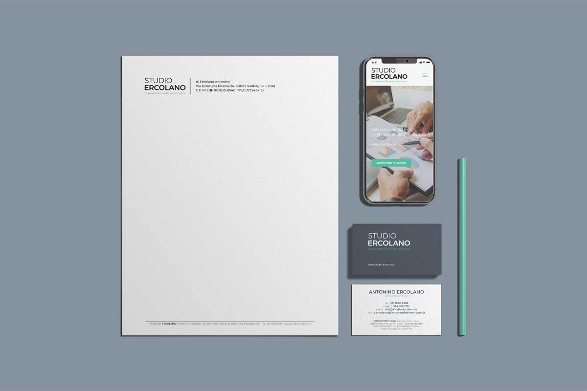 Studio Ercolano - Progettazione immagine coordinata - WHICA | Grafica e Web per la Comunicazione Aziendale | Realizzazione siti web, e-commerce, grafica pubblicitaria, marketing on-line e off-line | Napoli