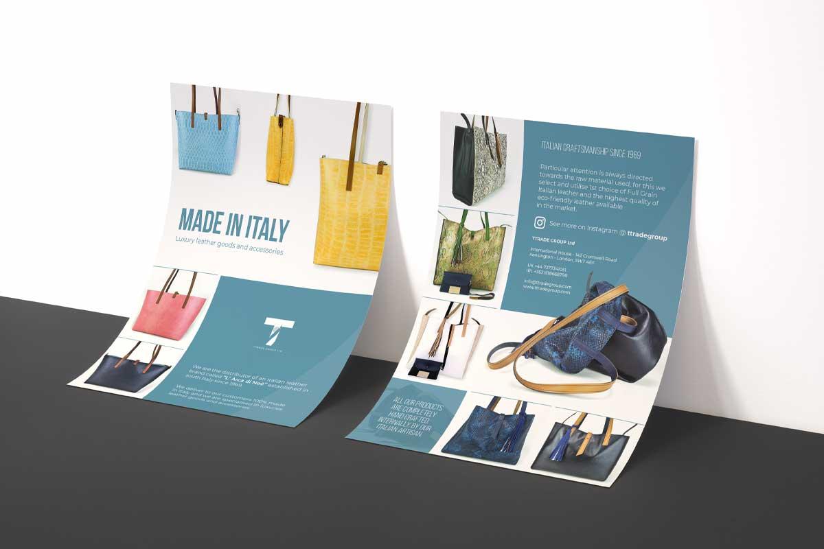 TTrade Group - Realizzazione volantino pubblicitario - WHICA   Grafica e Web per la Comunicazione Aziendale   Realizzazione siti web, e-commerce, grafica pubblicitaria, marketing on-line e off-line   Napoli