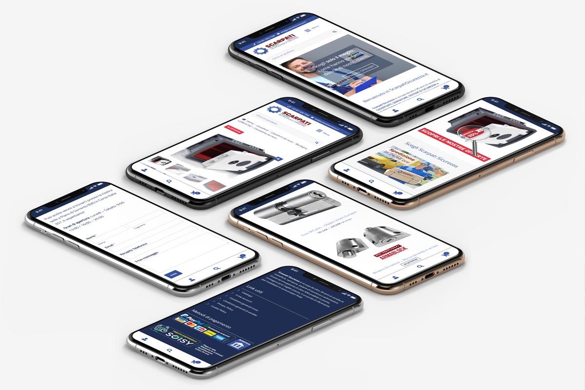 Scarpati Sicurezza - Realizzazione sito web di commercio elettronico - WHICA   Grafica e Web per la Comunicazione Aziendale   Realizzazione siti web, e-commerce, grafica pubblicitaria, marketing on-line e off-line   Napoli