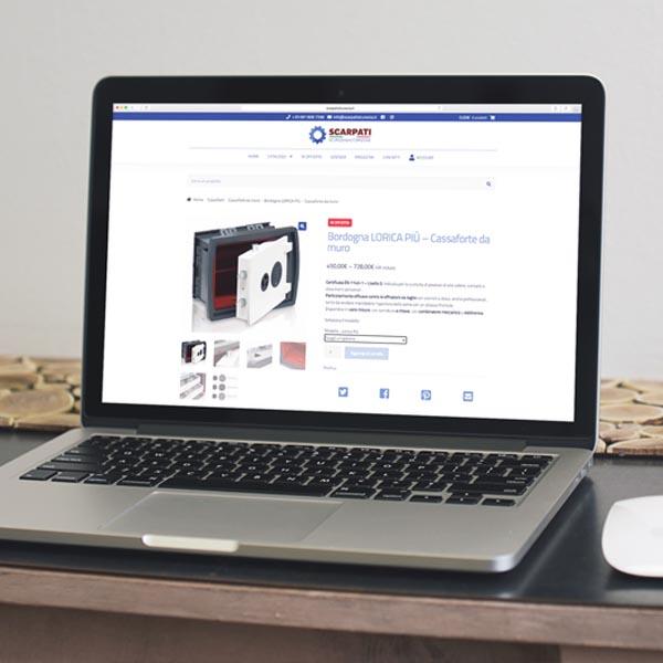 Scarpati Sicurezza - Realizzazione sito web di commercio elettronico - WHICA | Grafica e Web per la Comunicazione Aziendale | Realizzazione siti web, e-commerce, grafica pubblicitaria, marketing on-line e off-line | Napoli